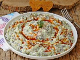 Mercimekli Kabak Salatası