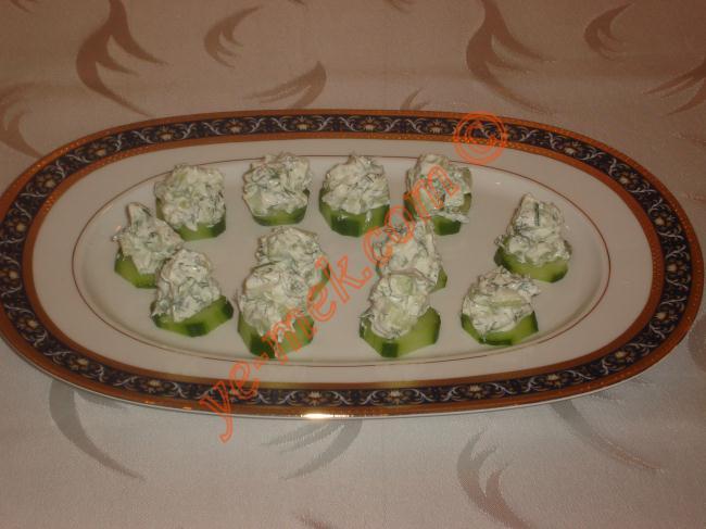 Cucumber Cream Cheese Canape Recipe