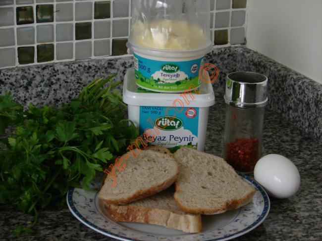 Maydanozlu Ekmek Dilimleri Malzemeleri