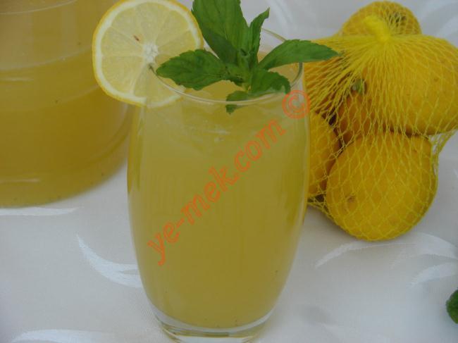 Naneli Limonata Resimli Yemek Tarifi