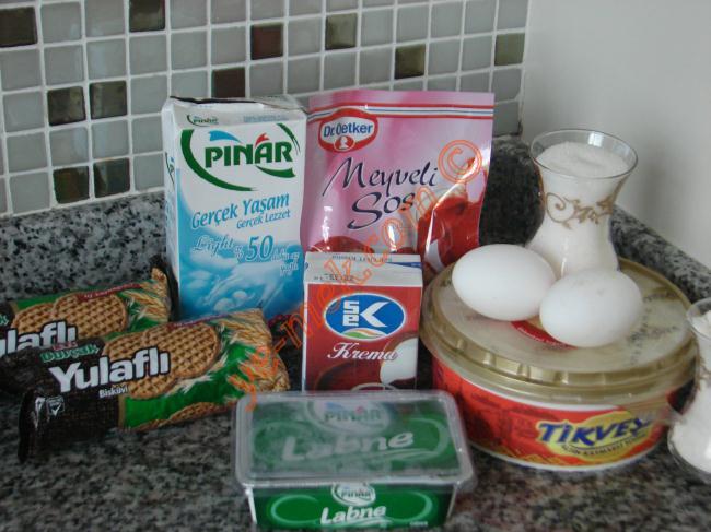 Meyveli Cheesecake Malzemeleri