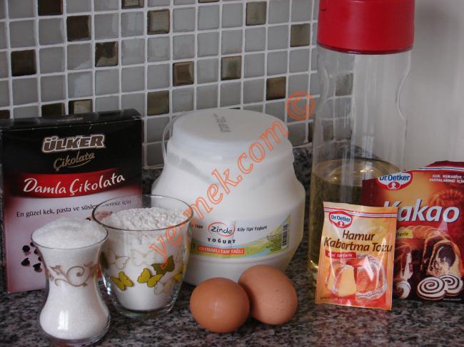 Çikolata Parçacıklı Kakaolu Muffin Malzemeleri