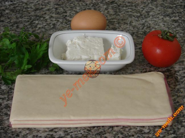 Peynirli Milföy Böreği Malzemeleri