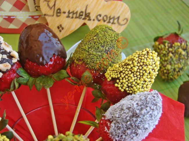 Çikolatalı Çilek  Buketi