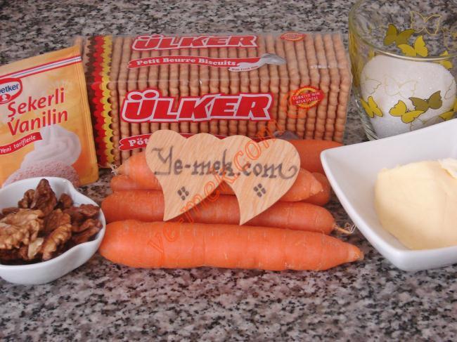 Carrot Mosaic Cake Recipe Malzemeleri