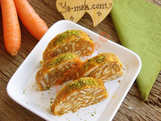 Carrot Mosaic Cake Recipe | Recipes (From Turkish Cuisine ...