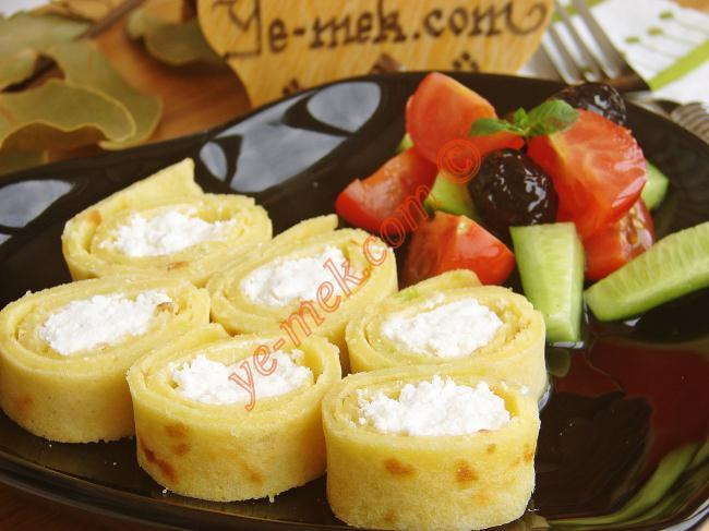 Peynirli Pırasalı Krep