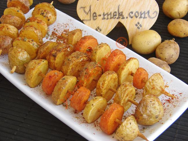 Fried Fresh Potato Skewers Recipe | Recipes (From Turkish ...