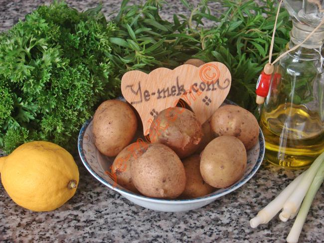 Taze Patates Salatası İçin Gerekli Malzemeler :  <ul> <li>10 adet küçük boy taze patates</li> <li>1-2 tutam maydanoz</li> <li>1 tutam taze kekik</li> <li>2 adet orta boy taze soğan</li> <li>3 yemek kaşığı zeytinyağı</li> <li>1/2 yemek kaşığı mayonez</li>         <li>1/2 limon suyu</li> <li>Tuz</li> </ul>