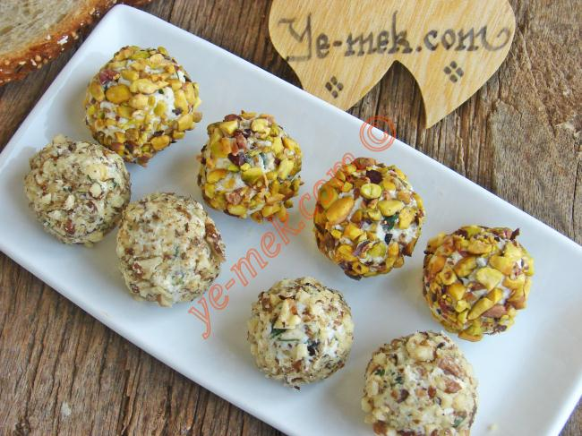 Feta Cheese Balls With Walnut And Pistachios Recipe