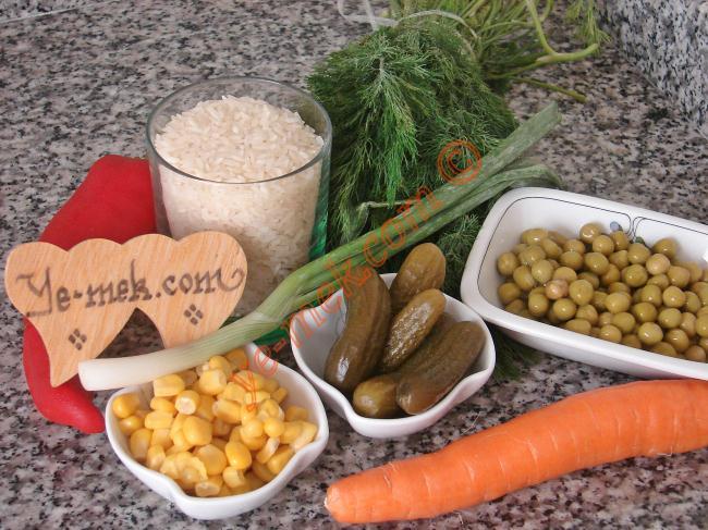 Chinese Salad (Rice Salad) Recipe Malzemeleri
