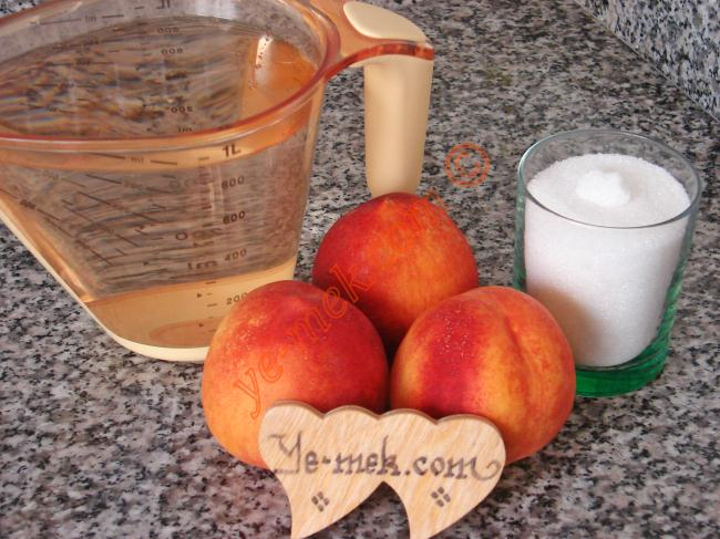 Nektarin Suyu İçin Gerekli Malzemeler : ul> <li>3 adet orta boy nektarin</li> <li>1 litre su</li>         <li>2 diş limon tuzu</li> <li>1/2 su bardağı toz şeker</li> </ul>