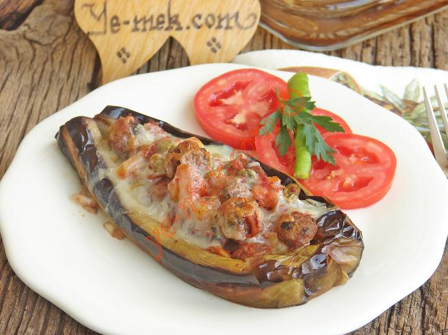 Meatball Stuffed Eggplant Recipe