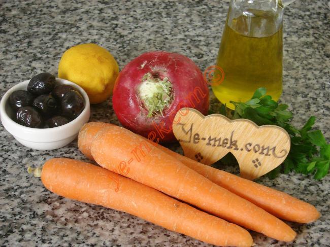 Havuçlu Turp Salatası Malzemeleri
