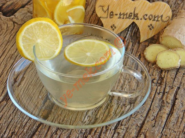 Zencefilli Limon Çayı