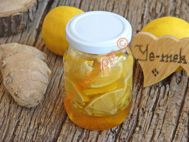 Soğuk Algınlığına ve Öksürüğe Birebir : Zencefilli Limonlu Bal