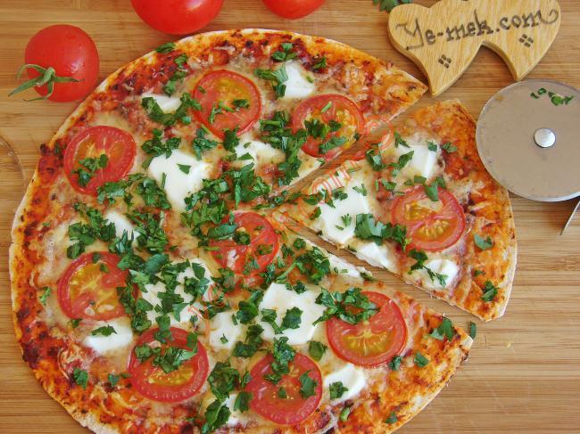 Maydanozlu Tortilla Pizza