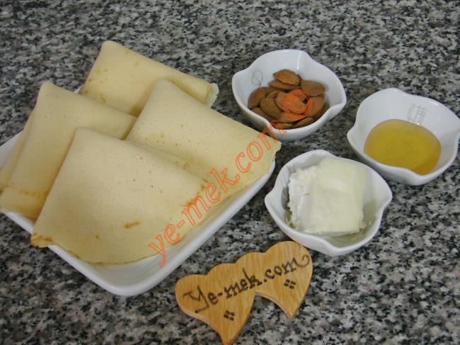 Kaymaklı Bademli Krep Lokması Malzemeleri