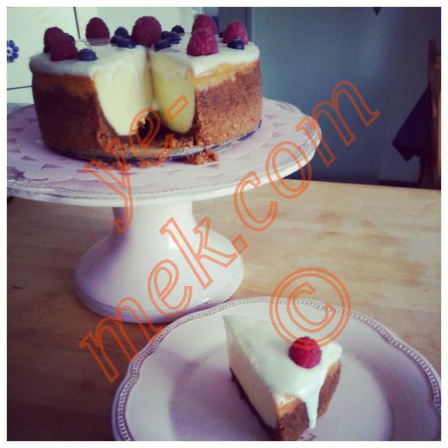 Newyork Usulü Cheesecake (Çiz Kek) (Mavi Mutfak)