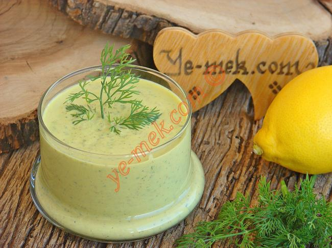 Yoğurtlu Hardal Salata Sosu