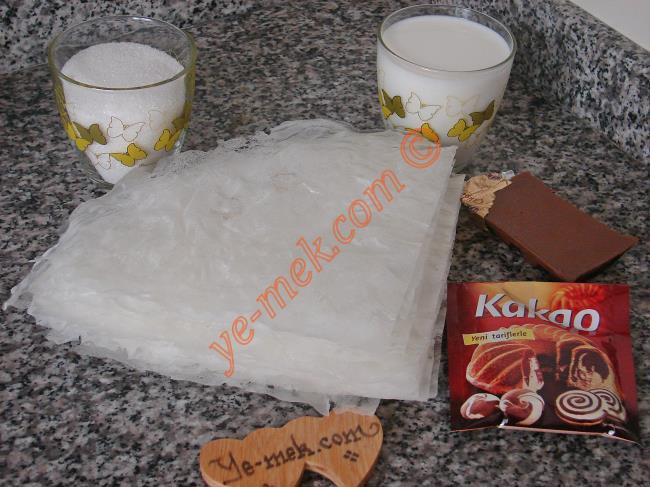 Çikolatalı Güllaç Malzemeleri