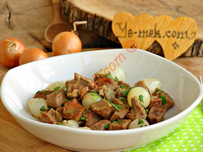 Arpacık Soğanlı Et Kavurma
