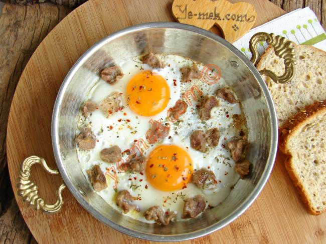 Kavurmalı Yumurta Yapımı