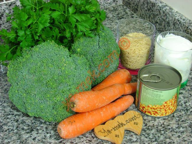 Üç Renkli Brokoli Salatası Malzemeleri