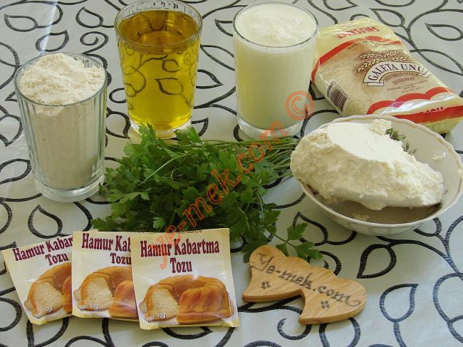Peynirli 3-2-1 Poğaça Malzemeleri