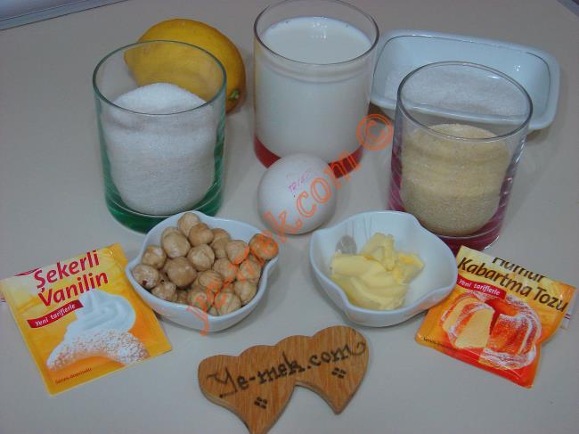 Limonlu İrmik Lokumları Malzemeleri
