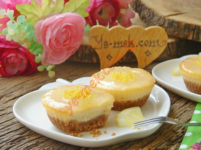 Limonlu Mini Çiz Kek (Cheesecake)