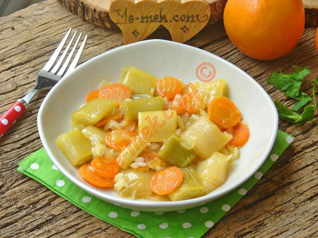 Portakallı Pırasa Yemeği