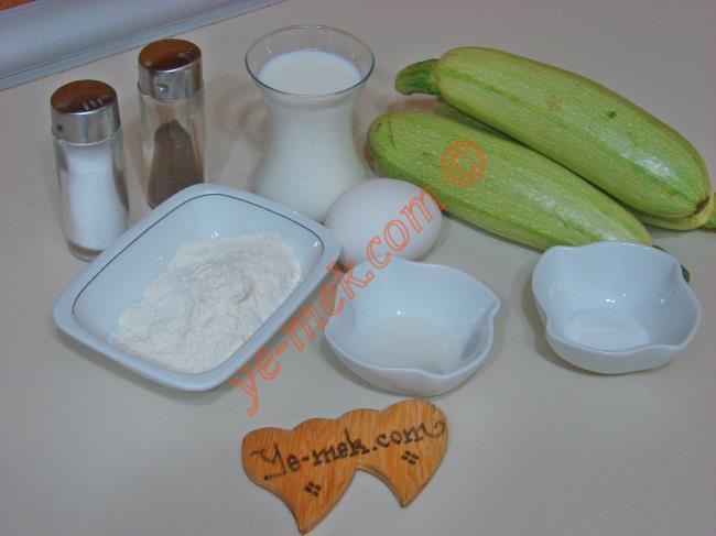 Sütlü Kabak Kızartması Malzemeleri