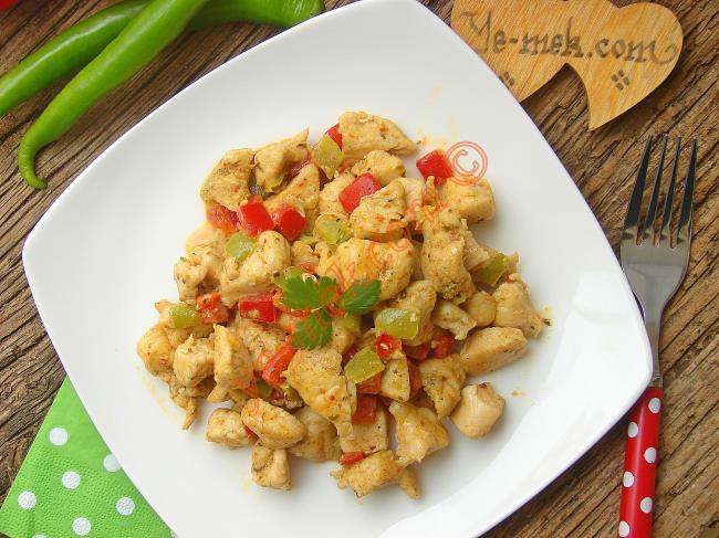 Kremalı Biberli Tavuk Yemeği
