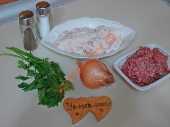 Şeftali Kebabı (Kıbrıs Yöresi) Malzemeleri