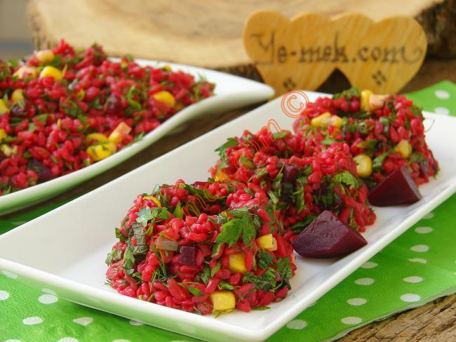 Kırmızı Pancarlı Bulgur Salatası