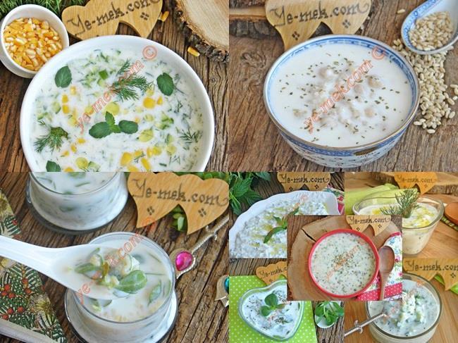 Yoğurtlu Soğuk Çorba Tarifleri