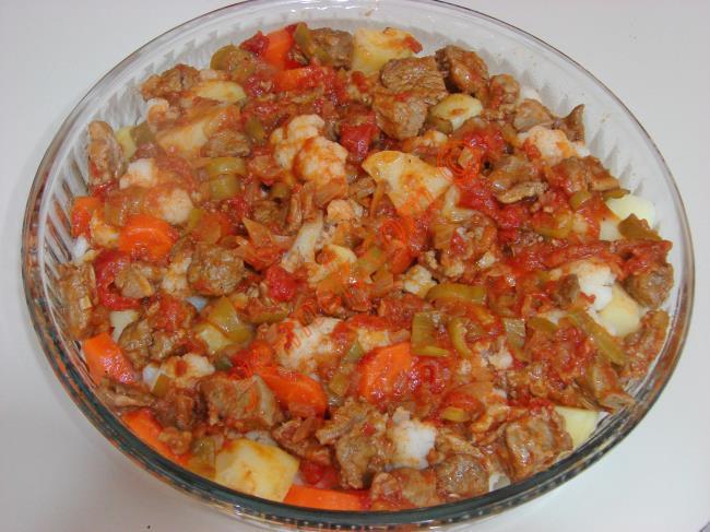 Fırında Etli Karnabahar Yemeği