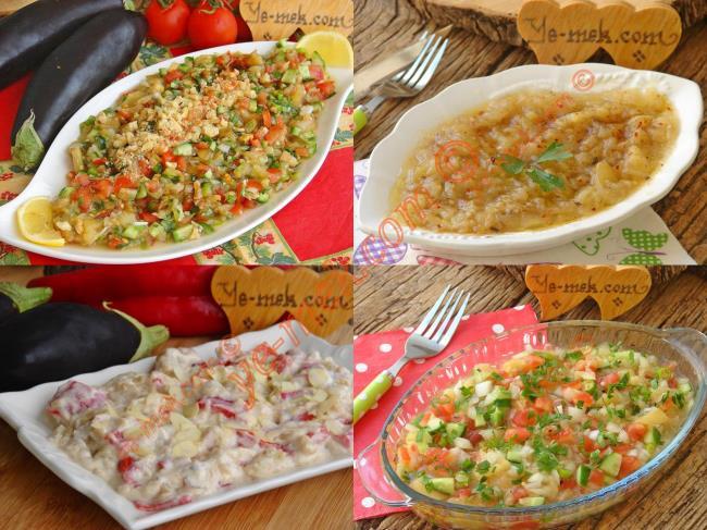 Közlenmiş Patlıcan Salataları