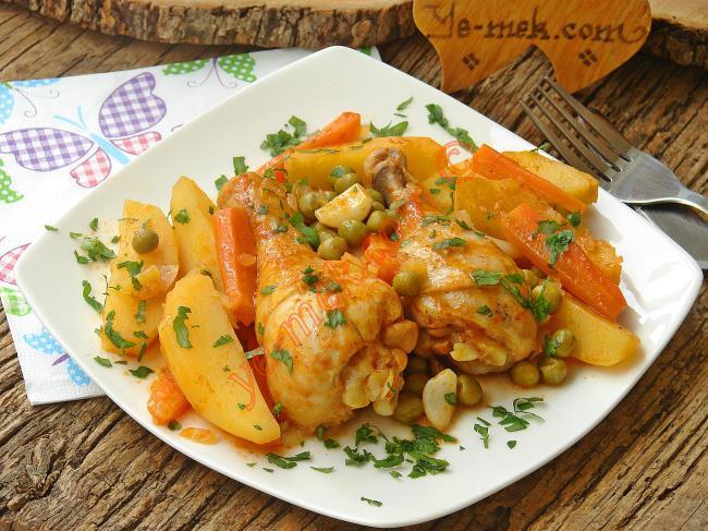 Resimli Pideli Tavuk Kebabı