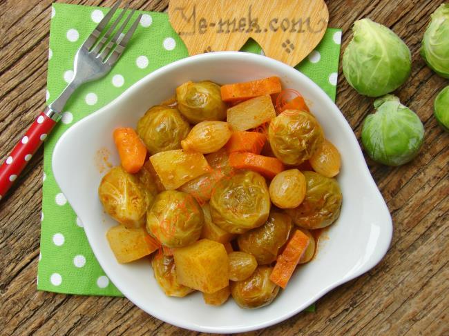 Patatesli Havuçlu Brüksel Lahanası Yemeği