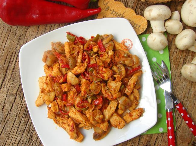 Tavuk ve mantarlı yemekler