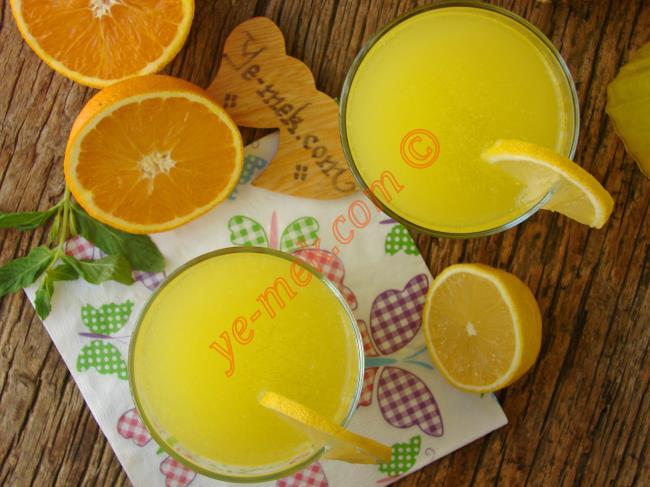 Buzlukta İstediğiniz Kadar Saklayın, Dilediğiniz Zaman Yapın : 1 Limon 1 Portakaldan 3 Litre Limonata