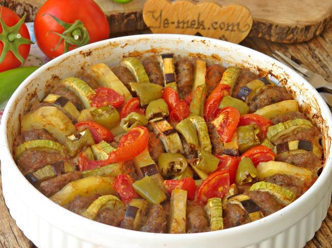Fırında Köfteli Sebze Dizmesi