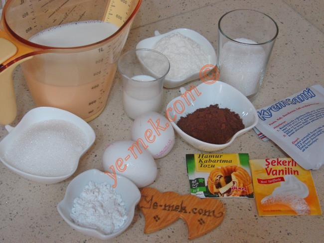 Kakaolu Gelin Pastası Malzemeleri