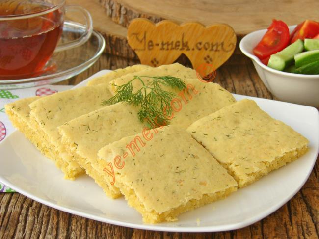 Margarinsiz Dereotlu Peynirli Poğaça