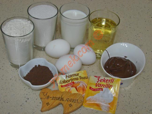 Nutellalı Pamuk Kek Malzemeleri