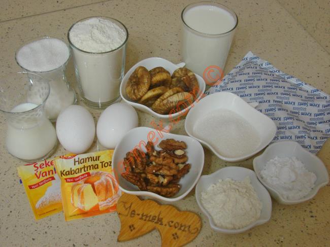 Kremalı İncirli Kek Malzemeleri