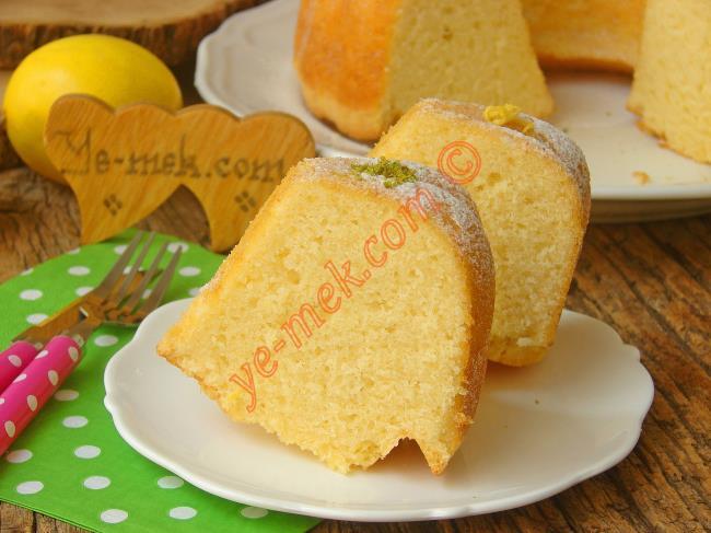 İştah Açan Rengiyle, Yemelere Doyamayacağınız Bir Kek : Limonlu Pamuk Kek