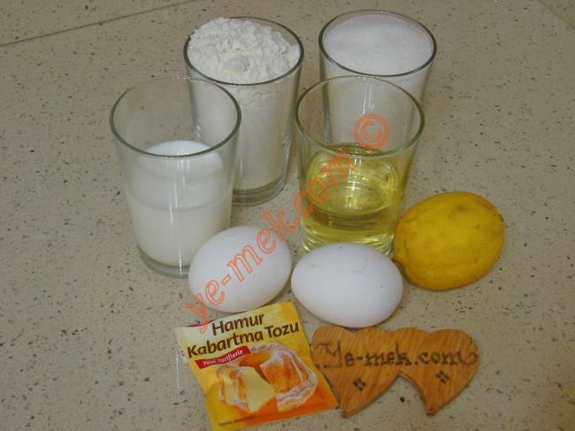 Tencerede Limonlu Fincan Kek Malzemeleri